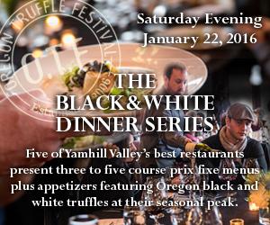 Oregon Truffle Festival Black & White Dinner Series
